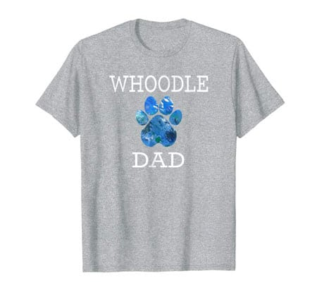 Whoodle Dad Men's dog t-shirt gray
