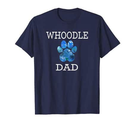 Whoodle Dad Men's dog t-shirt navy