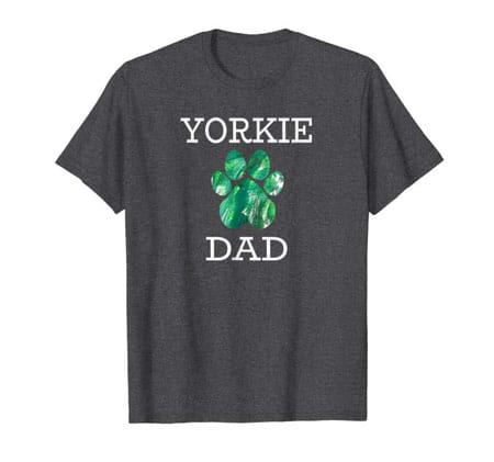 Yorkie Dog Dad t-shirt dark gray