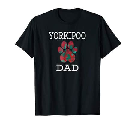 Yorkipoo Dad Men's dog t-shirt black