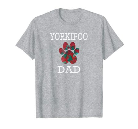 Yorkipoo Dad Men's dog t-shirt gray