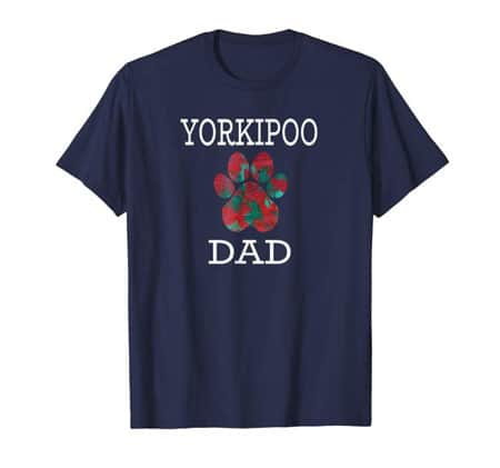 Yorkipoo Dad Men's dog t-shirt navy