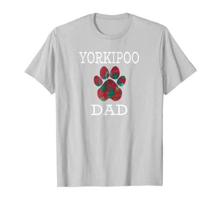 Yorkipoo Dad Men's dog t-shirt silver