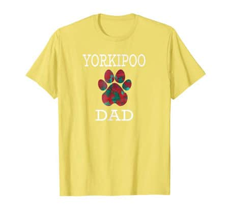 Yorkipoo Dad Men's dog t-shirt yellow