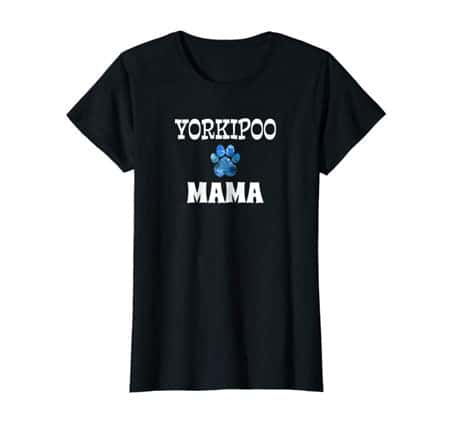 Yorkipoo Mama women's dog t-shirt black