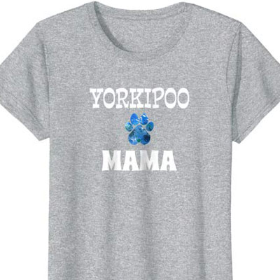 Yorkipoo Mama Dog Mom shirt