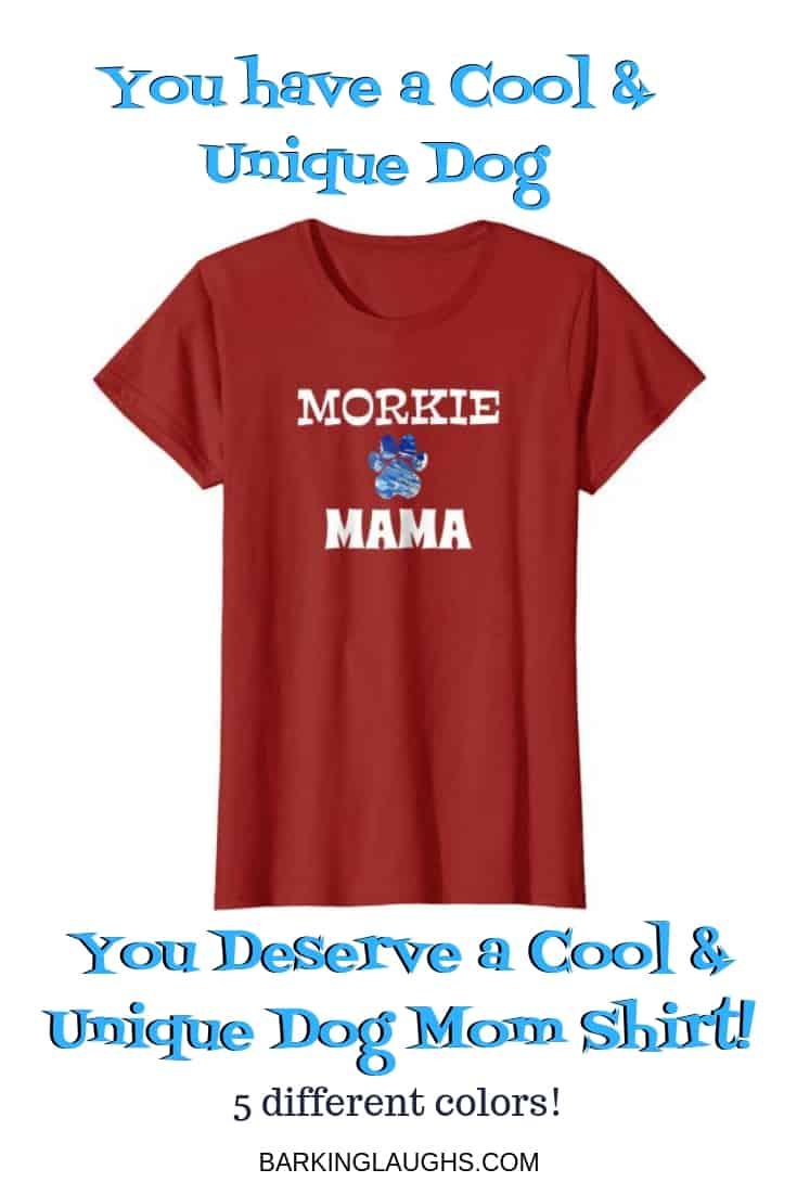 Morkie dog mom shirt.