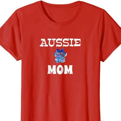 Barking Laughs Dog Mom shirt for the Aussie