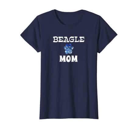 Beagle Mom women's dog t-shirt navy