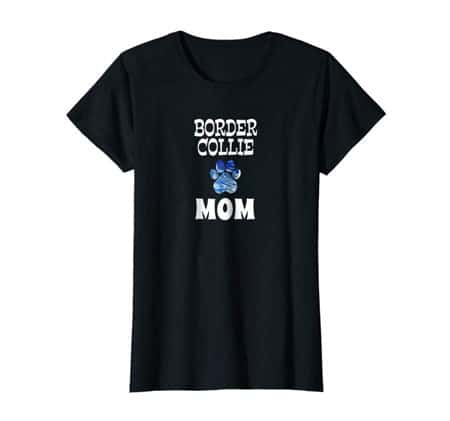 Border Collie Dog Mom t-shirt black