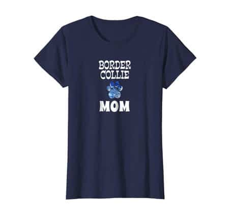 Border Collie Dog Mom t-shirt navy