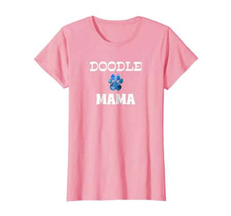 Doodle Mama women's dog t-shirt pink
