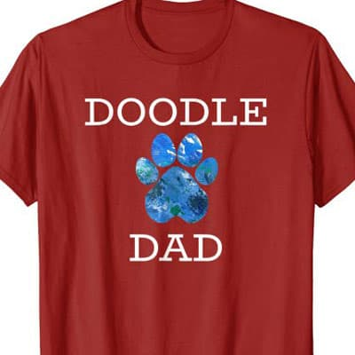 Barking Laughs Dog Dad shirt for the doodle