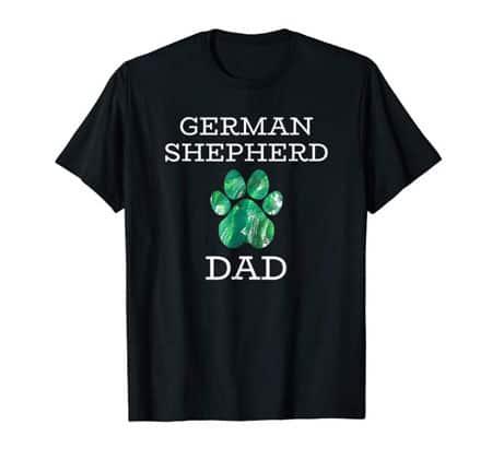 German Shepherd dad men's dog t-shirt black