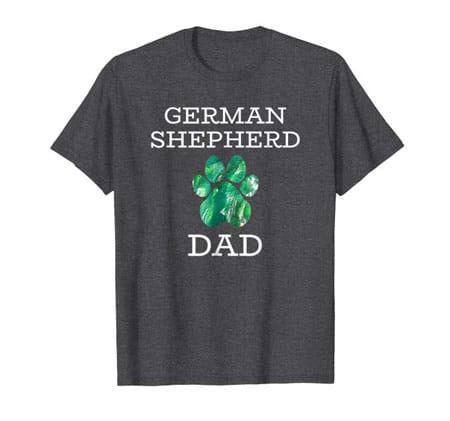 German Shepherd dad men's dog t-shirt dark heather