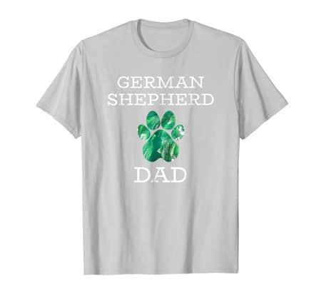 German Shepherd dad men's dog t-shirt silver