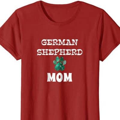 Barking Laughs Dog Mom shirt for the German Shepherd