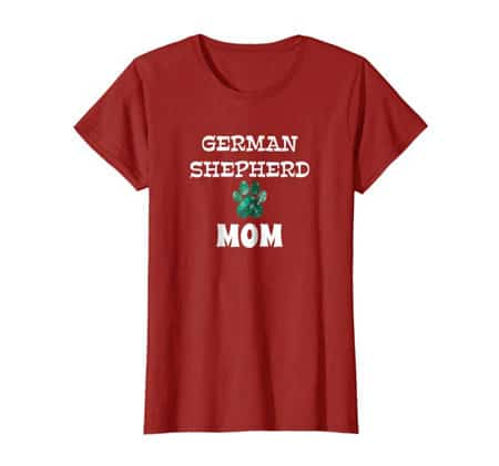 German Shepherd Mom women's dog t-shirt cran