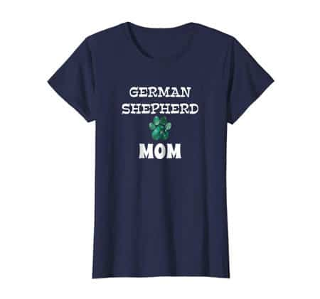 German Shepherd Mom women's dog t-shirt navy