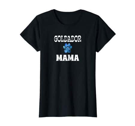Goldador Mama Dog Mom t-shirt black