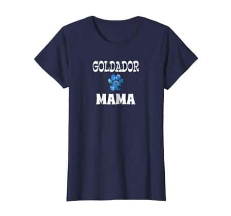 Goldador Mama Dog Mom t-shirt navy