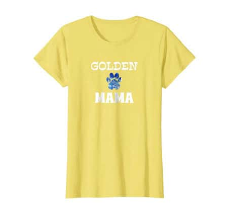 Golden mama women's dog t-shirt yellow