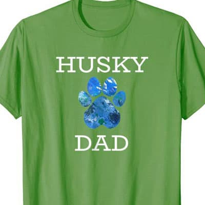Barking Laughs Dog Dad shirt for the Husky