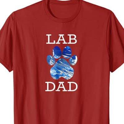 Barking Laughs Dog Dad shirt for the Lab