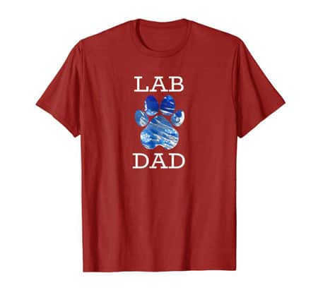 Lab dad men's dog t-shirt cran