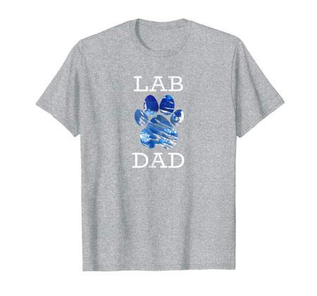 Lab dad men's dog t-shirt gray