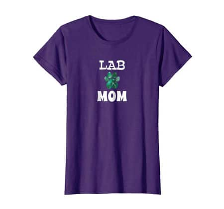 Lab Mom women's dog t-shirt purple
