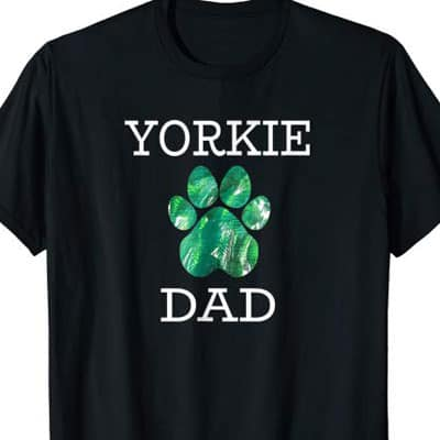 Barking Laughs Dog Dad shirt for the Yorkie