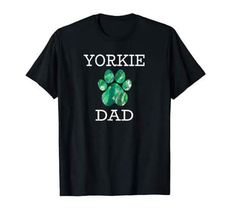 Yorkie Dog Dad t-shirt black