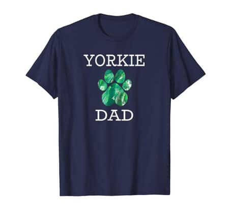 Yorkie Dog Dad t-shirt navy