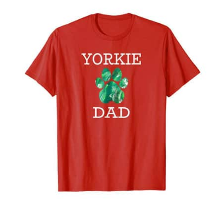 Yorkie Dog Dad t-shirt red