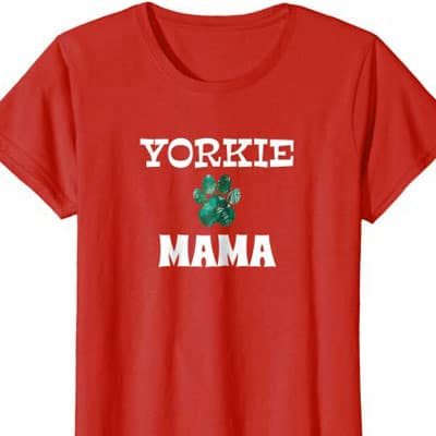 Barking Laughs Dog Mom shirt for the Yorkie