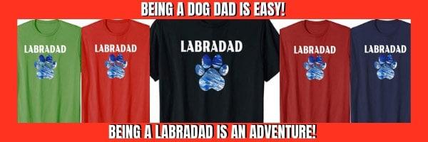 labradad dog dad tshirts