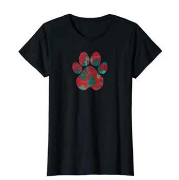 Crimson women Paws shirt black