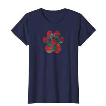 Crimson women Paws shirt blue