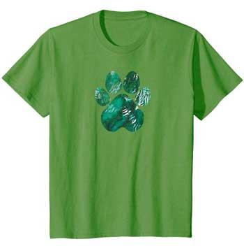 Forest Rain kids Paws shirt green