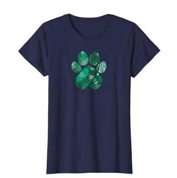 Forest Rain Women Paws shirt blue