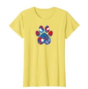 New Glory Woman Paws shirt yellow