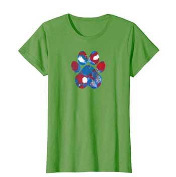 New Glory Woman Paws shirt green