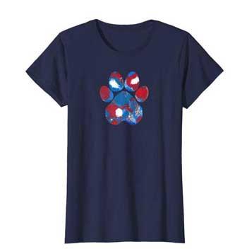 New Glory Woman Paws shirt blue