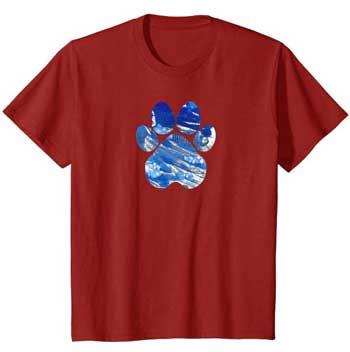 Cobalt kids Paws shirt cranberry