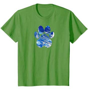 Cobalt kids Paws shirt green