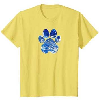 Cobalt kids Paws shirt yellow