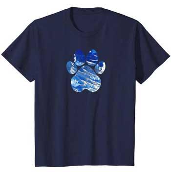 Cobalt kids Paws shirt blue