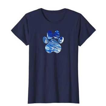 Cobalt women Paws shirt blue