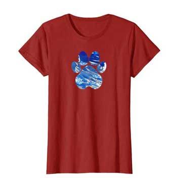 Cobalt women Paws shirt cranberry